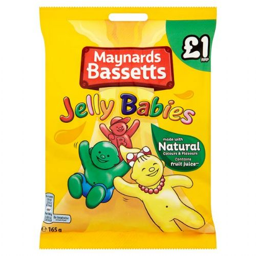 Maynards Bassetts Jelly Babies 165g Bag (UK)